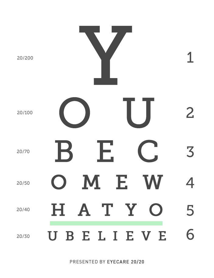Seeing Is Believing: Inspirational Eye Exam Design